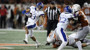 First half turnovers haunt Kansas in 42-27 loss to Texas