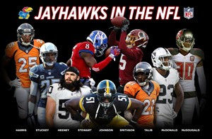 Jayhawks prepare for start of NFL Training Camps