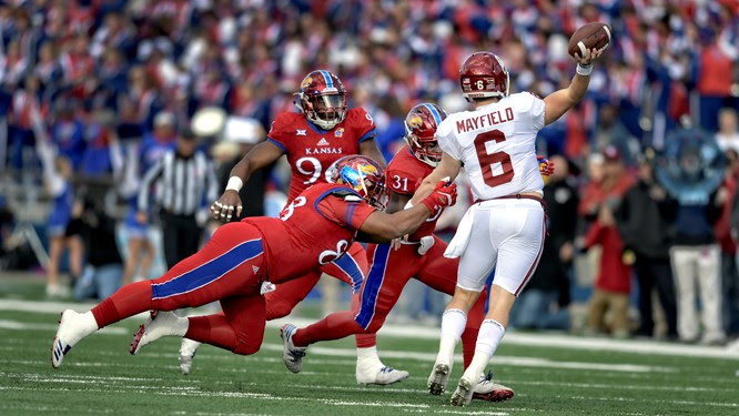 OU's Mayfield Issues Apology For Taunting Kansas With Crotch Grab, Curses