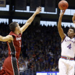 No. 4/5 Kansas shoots light-out to triumph over Stanford, 89-74