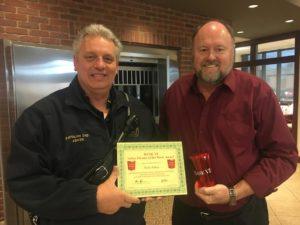 Scott Abker receives his BANK VI Hero of the Week Award