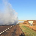 PHOTOS: Stolen truck found burned in Gove Co.