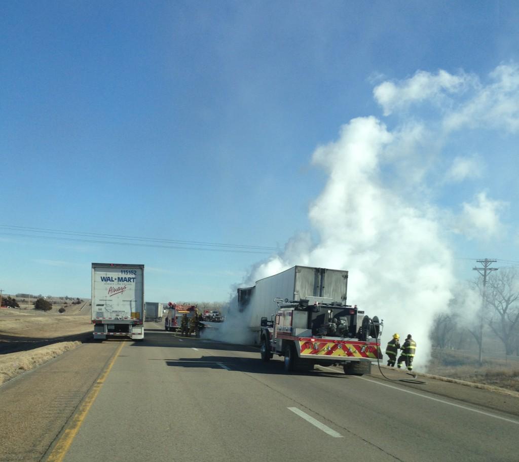 Semi Catches Fire On I-70 Near Dorrance