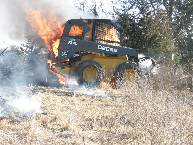 Fire Destroys Skid Loader Friday Afternoon The Salina Post