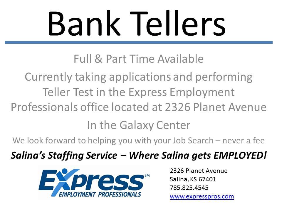 Hiring Bank Teller Positions The Salina Post
