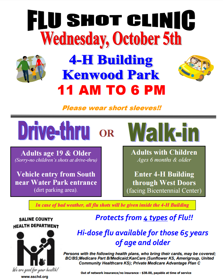 Flu Vaccine Flyers Free: Flu Shot Clinic Planned For October 5th