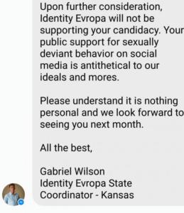 Gabriel Wilson's message to Joey Frazier.