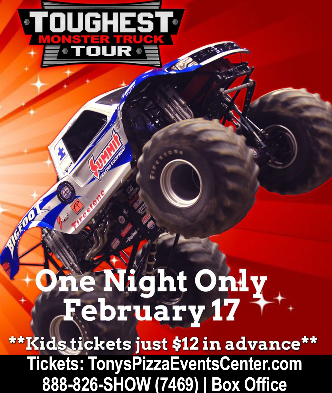 'Toughest Monster Truck Tour' To Return To Salina